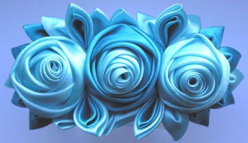 заколки-розы из лент