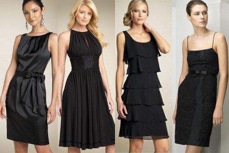 Выбирая little black dress маленькое черное